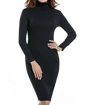 ACEVOG-Womens-Turtleneck-Ribbed-Long-Sleeve-Knit-Sweater-Dresses-0