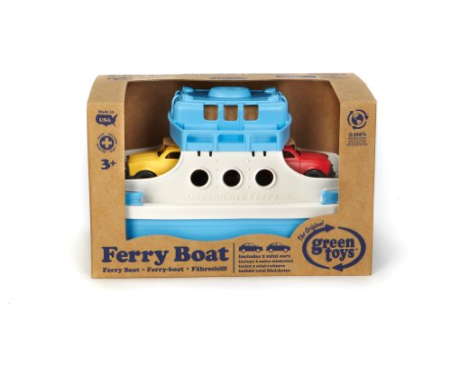 Green-Toys-Ferry-Boat-with-Mini-Cars-Bathtub-Toy-BlueWhite-0-0