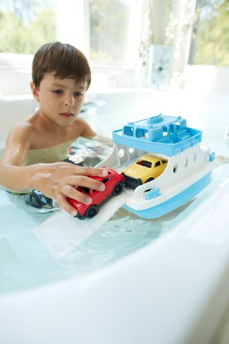 Green-Toys-Ferry-Boat-with-Mini-Cars-Bathtub-Toy-BlueWhite-0-1