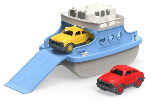 Green-Toys-Ferry-Boat-with-Mini-Cars-Bathtub-Toy-BlueWhite-0