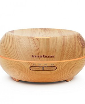 InnoGear-Aromatherapy-Essential-Oil-Diffuser-Ultrasonic-Cool-Mist-Diffusers-with-7-Color-LED-Lights-Waterless-Auto-Shut-off-200ml-Wood-Grain-0